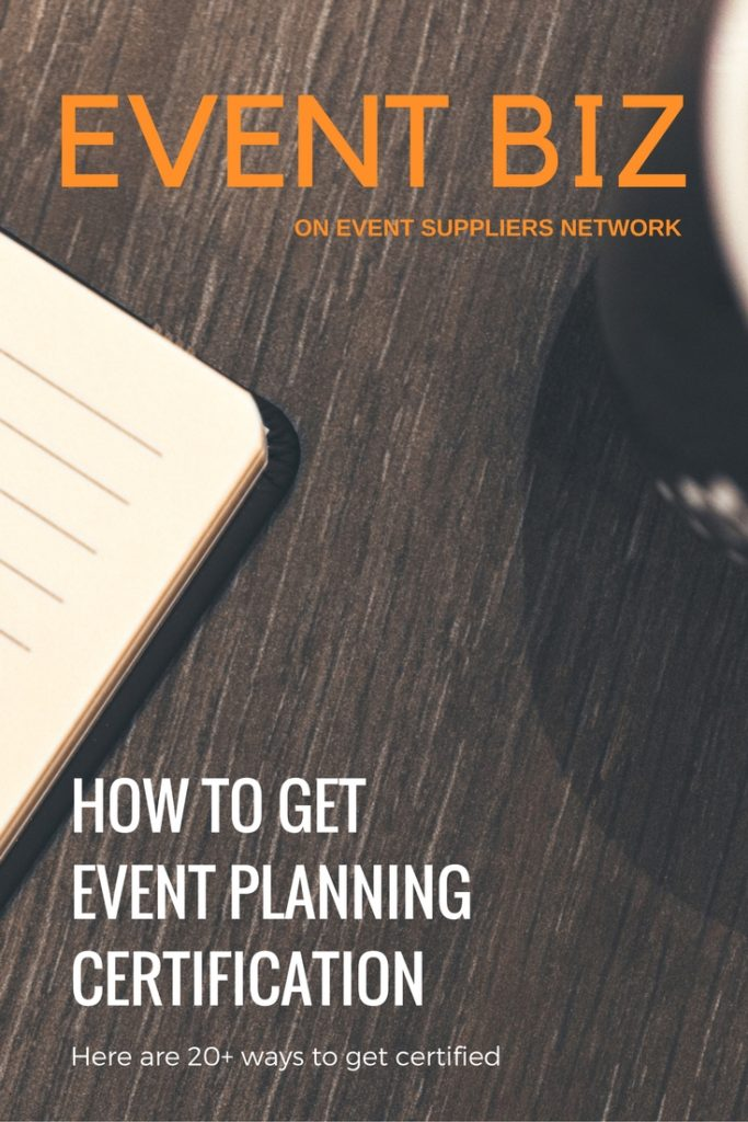 How to get event planning certification - Pinterest Pic