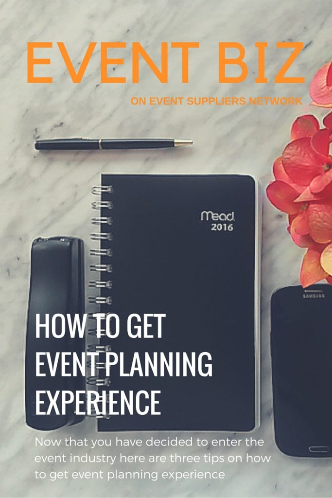 How to get event planning experience - Pinterest Pic