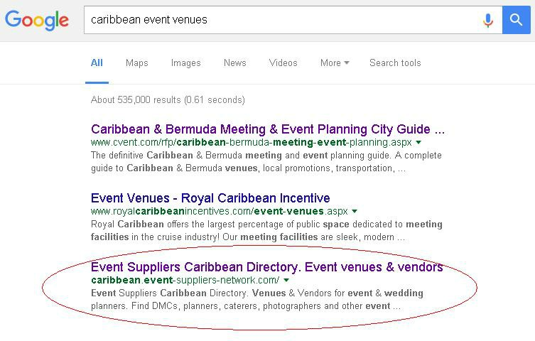 Search Results for - Caribbean Event Venues - March 29 2016