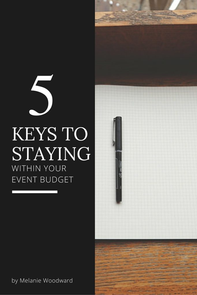 5 keys to staying within your event budget - Pinterest Pin